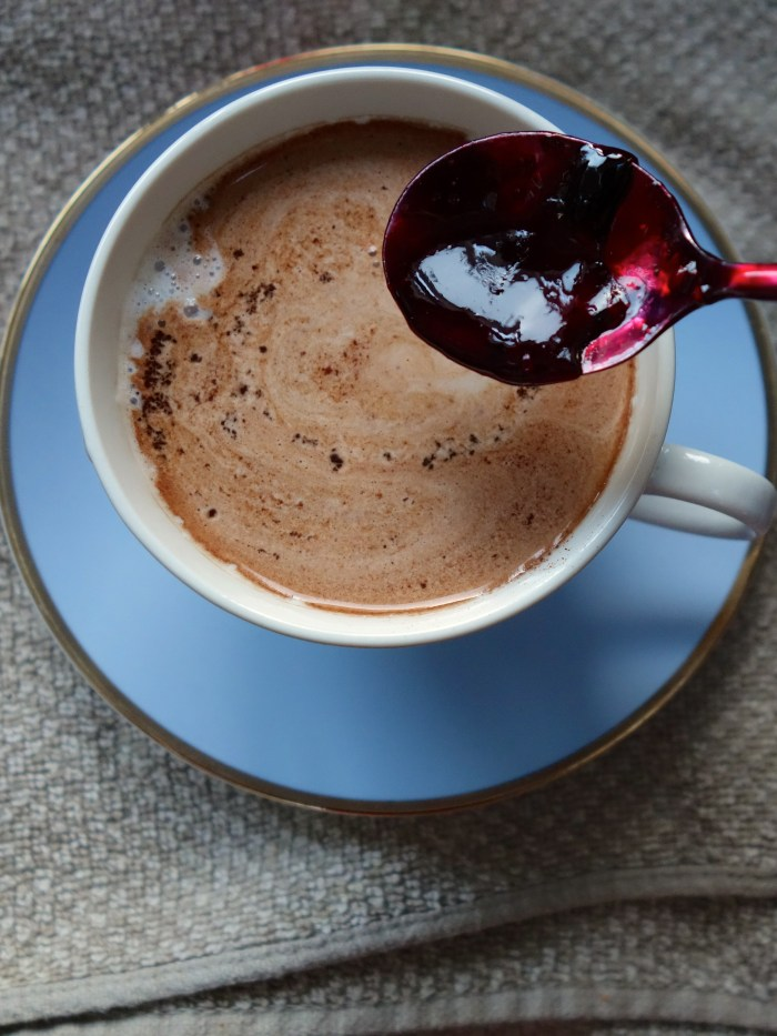 Black Forest Hot Chocolate - mix black forest syrup into the hot chocolate