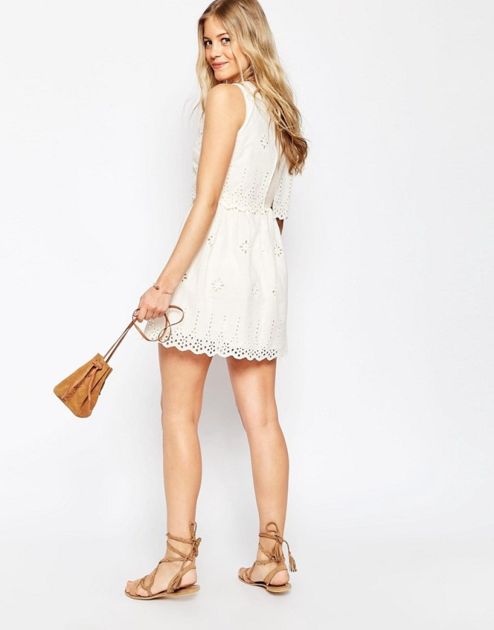 HeyRashmi Spring Dress Edit - Asos broderie double layer dress