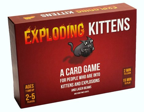 HeyRashmi Christmas gift guide - Exploding Kittens card game