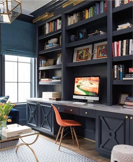HeyRashmi - Interior Design Ideas 2017 - Built-in bookshelves