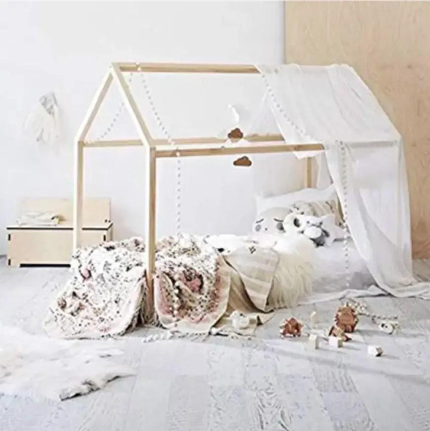 No crib floor bed frame