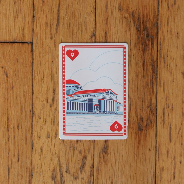 Chicago Playing Card: Museum of Science and Industry