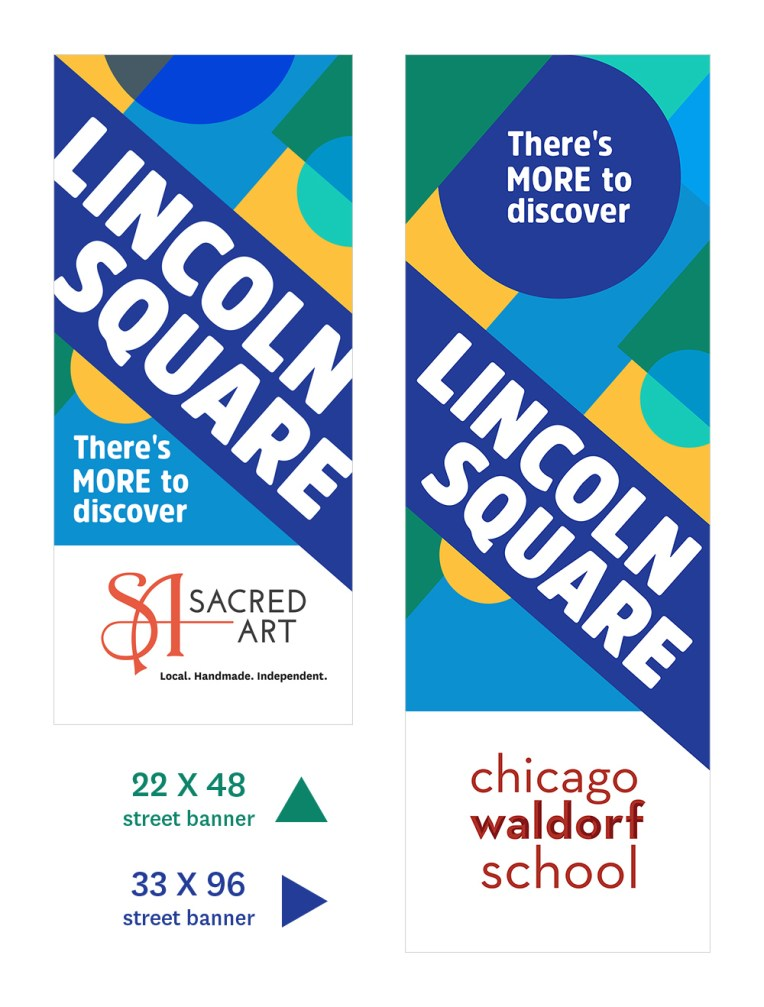 Lincoln Square Ranswood Chamber of Commerce • street banner mockups