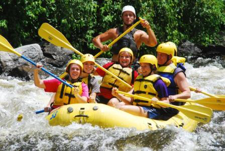 Whitewater Rafting on Big Pigeon River Tennessee North Carolina
