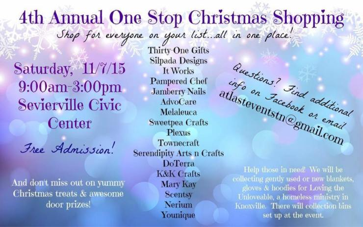 one stop christmas shopping event sevierville TN