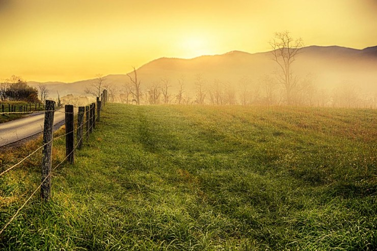 Great Smoky Mountains Sunrise in Cades Cove