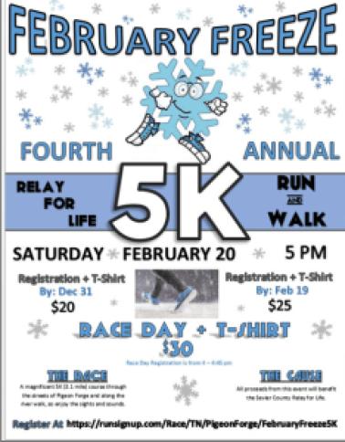 February Freeze 5K on February 28 2016
