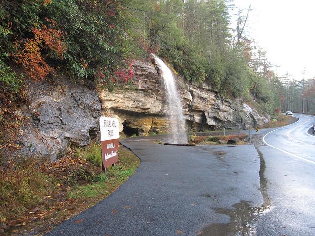 Bridal Veil Falls on Moonshiner 28 NC Smoky Mountains