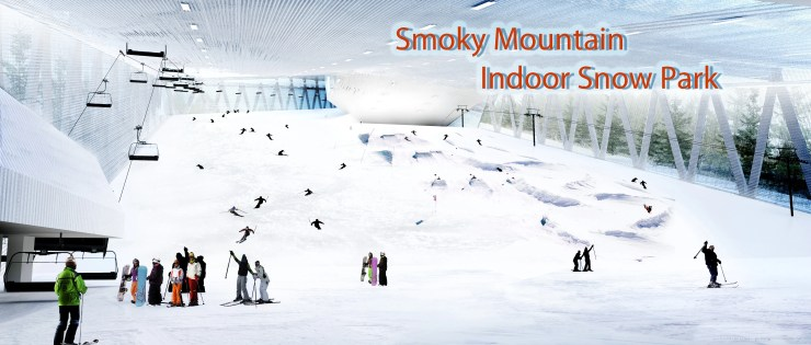 Smoky Mountain indoor snow tubing!