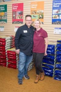 Liz and Tony Cutrone with Wildbirds Unlimited love backyard birds.