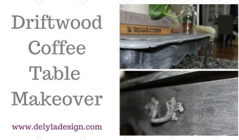 Drift Wood Coffee Table Makeover