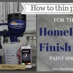 How to thin paint for the HomeRight Finish Max Fine Finish + A Giveaway!!!