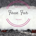 Easy Faux Fur Foot Stool