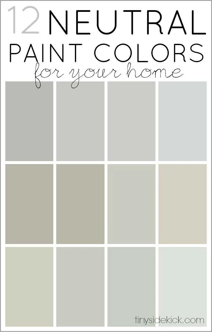 Behr interior paint color palette for Neutral paint palette for house