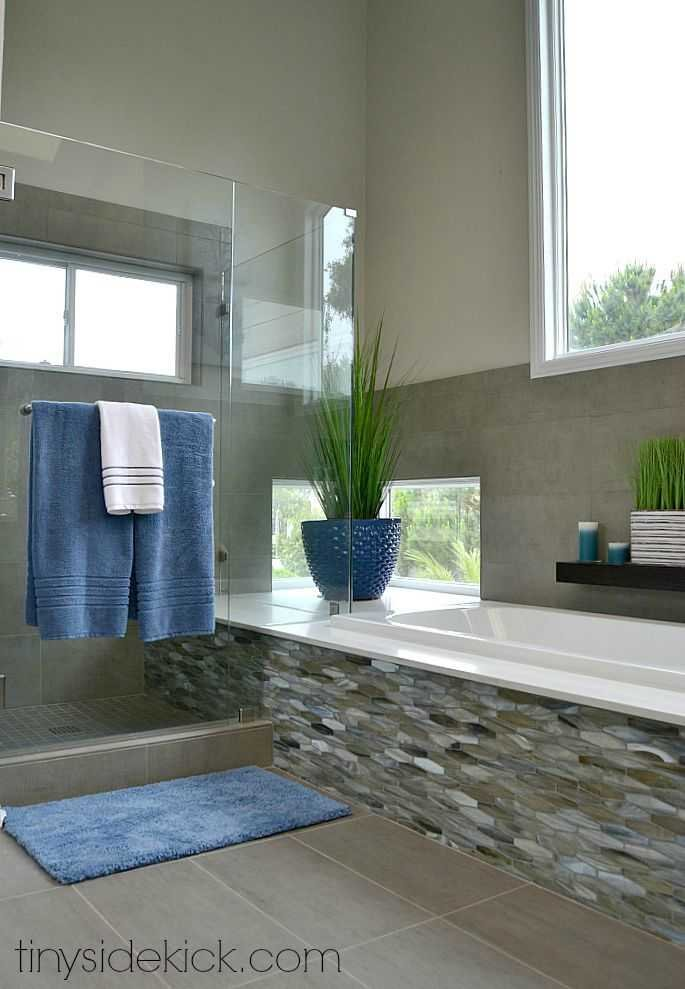 Just brought this 1980 s bathroom into the 21st century  modern coastal bathroom remodel by TinySidekick com