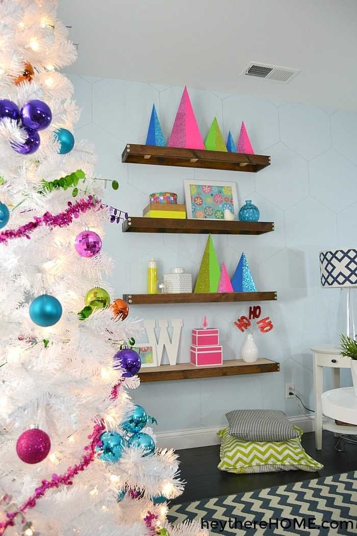 Bright Colored Christmas Tree Decorations Christmas