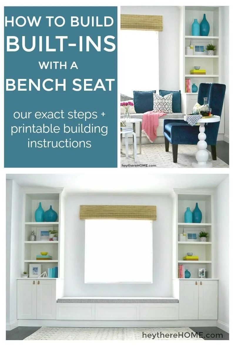 Step By Step How To Build Built Ins With A Bench Seat