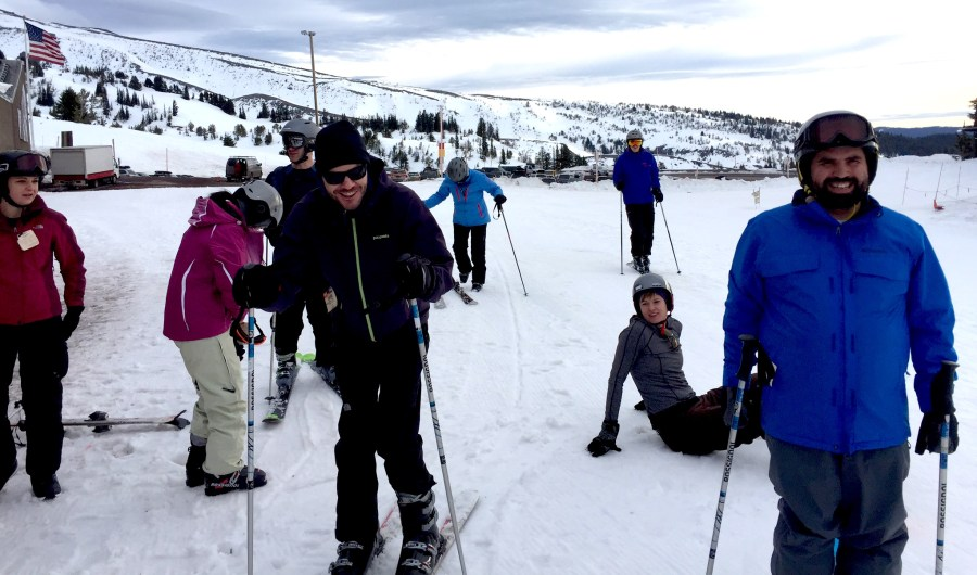 Group Skiing at Timberline Lodge