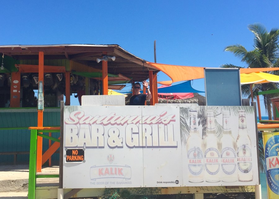 Santanas bar and grill, where Johnny Depp hung out in Great Exuma