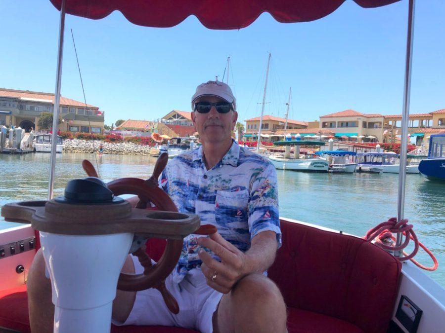 On a boat in Ventura, CA