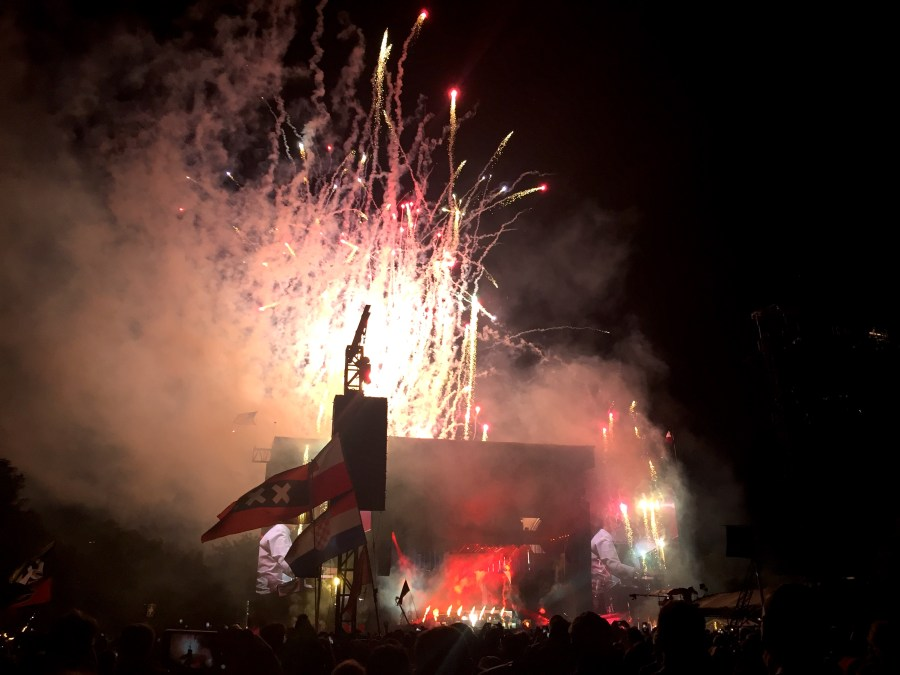 Fireworks while Paul McCartney played Live and Let Die at ACL 2018 Austin City Limits Austin Texas