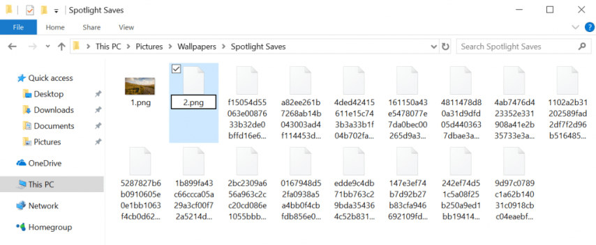 Download Windows 10 Spotlight Images - rename each of the spotlight images