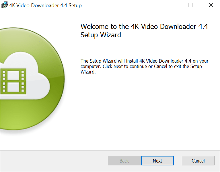 4k Video Downloader - Installer