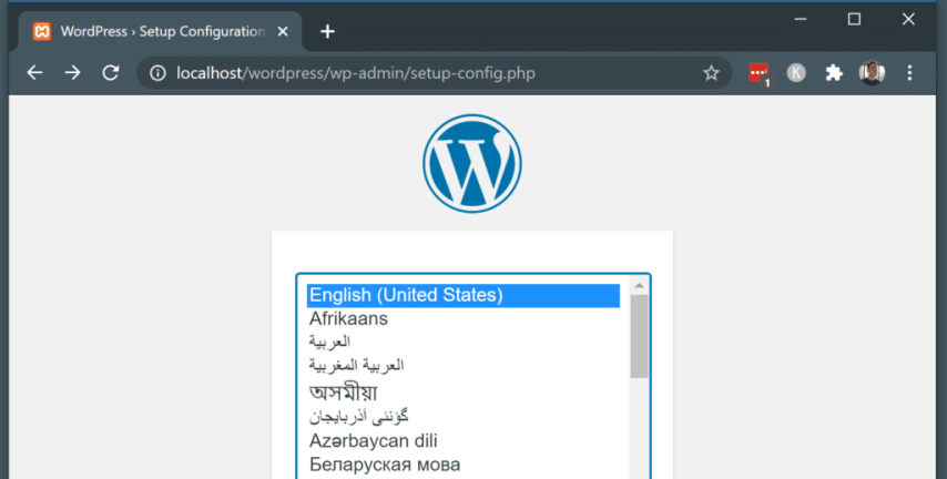 How to Install WordPress on Localhost with XAMPP - run the wordpress auto installer
