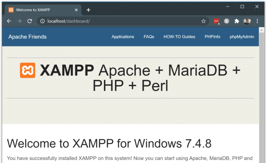 How to Install WordPress on Localhost with XAMPP - test your new localhost server website