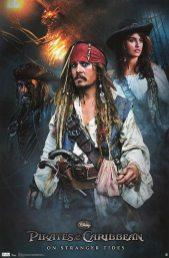 Pirates of the Caribbean Poster - Ian McShane, Johnny Depp & Penelope Cruz