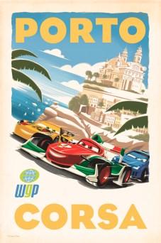 Cars 2 Vintage Poster - Porta