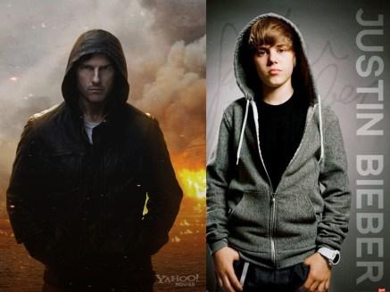 Tom Cruise & Justin Bieber