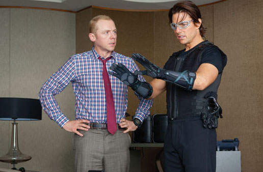 Mission Impossible 4 - Simon Pegg and Tom Cruise