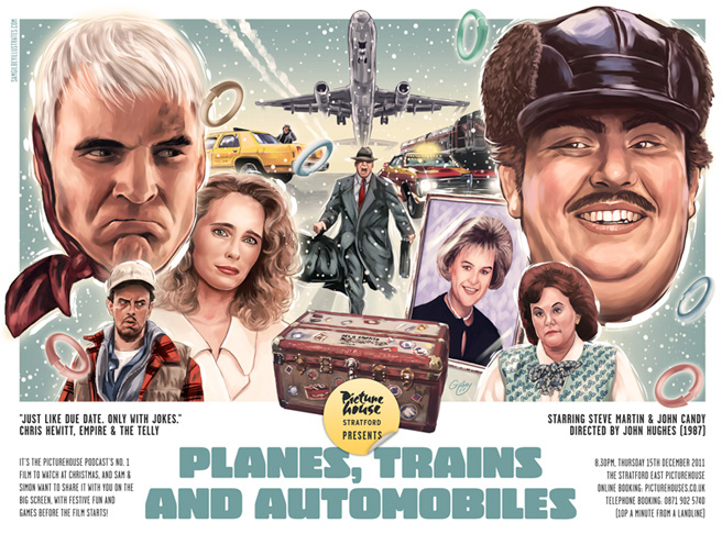 planes, trains and automobiles poster by sam gilbey who is an excellent artist and a very nice chap too