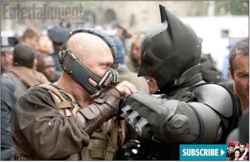 The dark knight rises bane batman