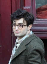 Daniel Radcliffe's new hair do on the Kill Your Darlings Film Set Brooklyn NY