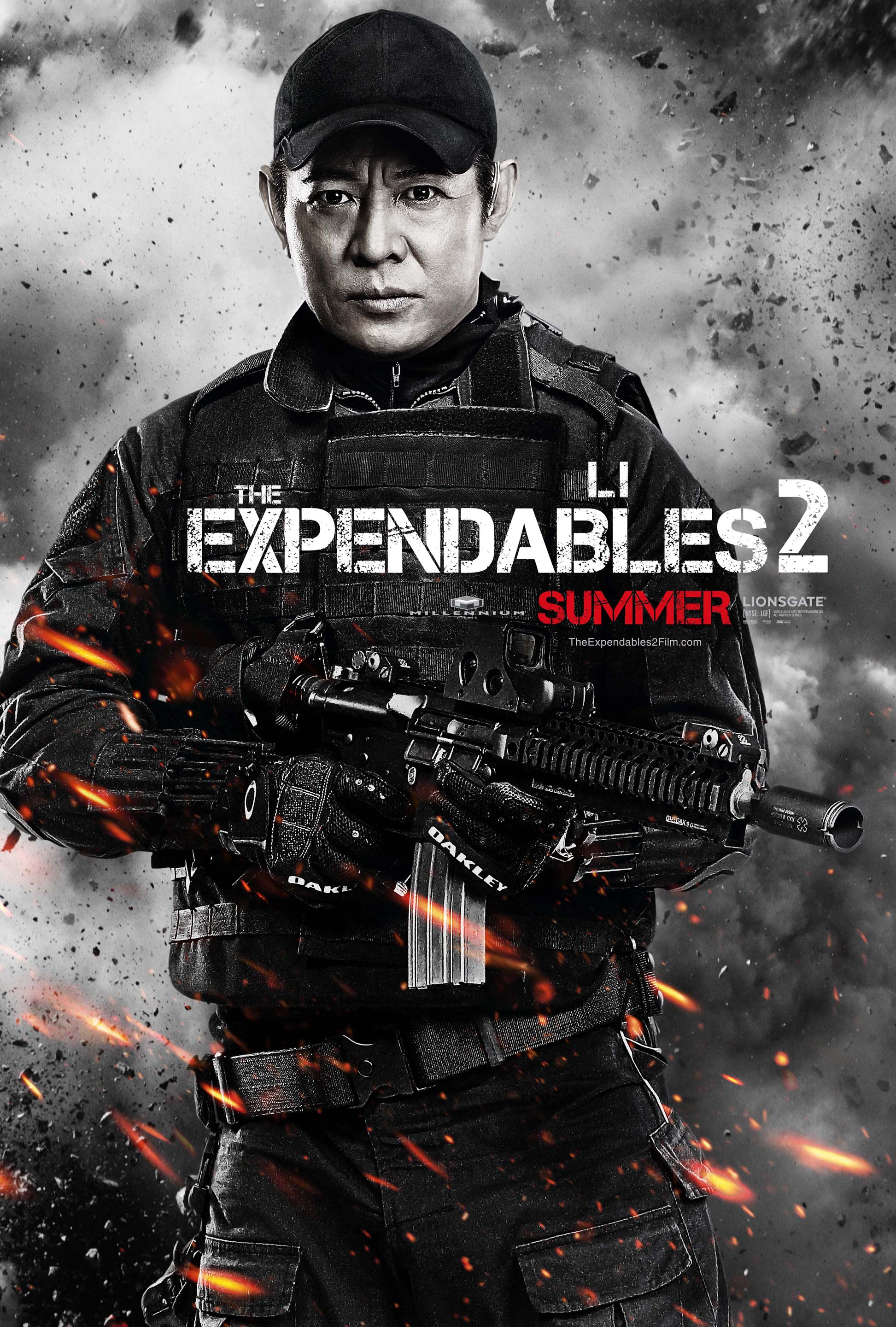 uk exclusive character poster - jet li in the expendables 2 - heyuguys