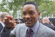 Will Smith at the Men in Black 3 UK Premiere Pointing