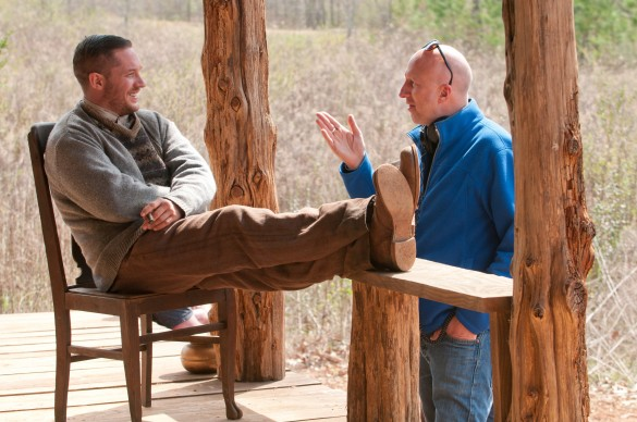 John Hillcoat and Tom Hardy in Lawless