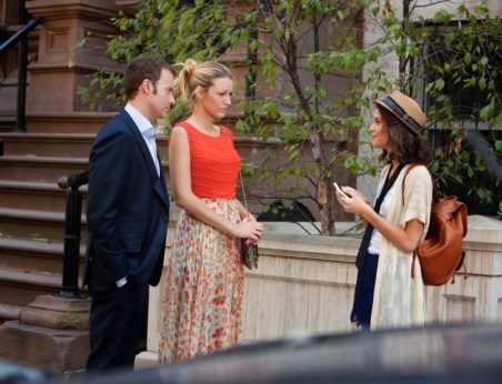 Barry Watson, Blake Lively and Sofia Black-D'Elia in Gossip Girl