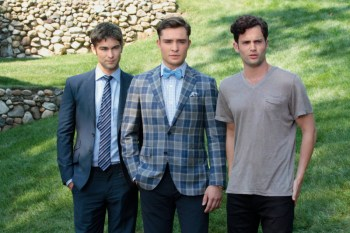 Chace Crawford, Ed Westwick and Penn Badgley in Gossip Girl