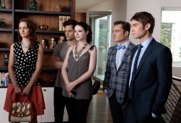 Leighton Meester, Penn Badgley, Michelle Trachtenberg, Ed Westwick and Chace Crawford in Gossip Girl