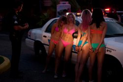 Vanessa Hudgens, Ashley Benson, Rachel Korine and Selena Gomez in Spring Breakers