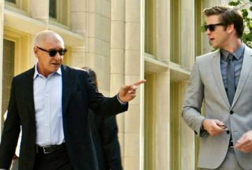 Harrison Ford and Liam Hemsworth in Paranoia
