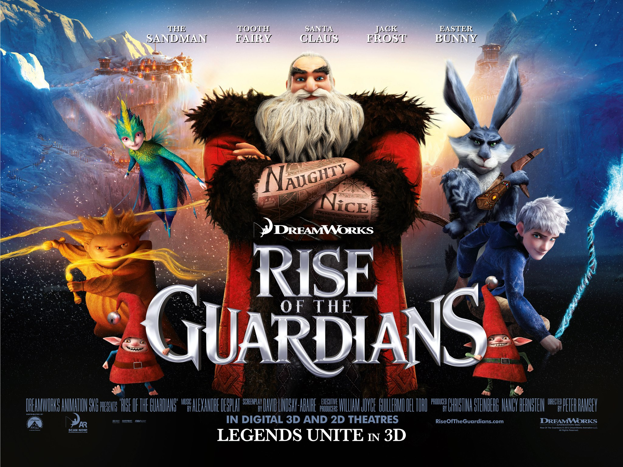 "Family Afternoon at the Library: Rise of the Guardians Movie & ""Jack Frost"" Snowflake Craft @ Crawford Room"