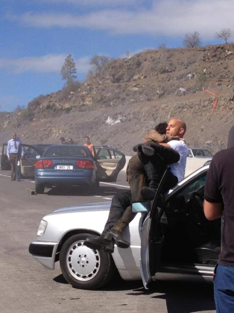 Vin Diesel on set of Fast and Furious 6