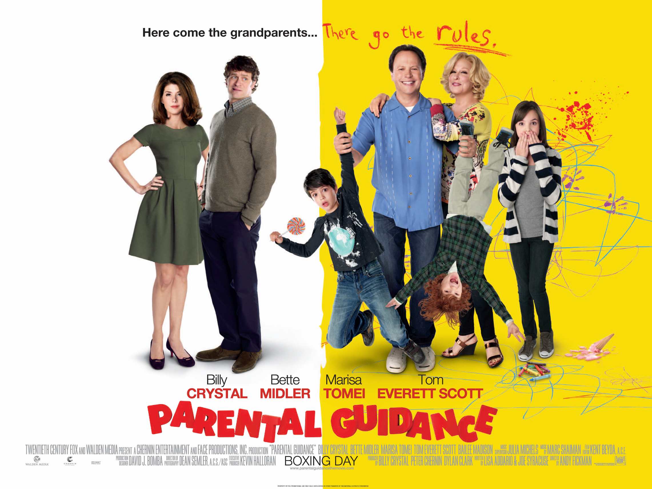 Parental Guidance Trailer and UK Quad Poster