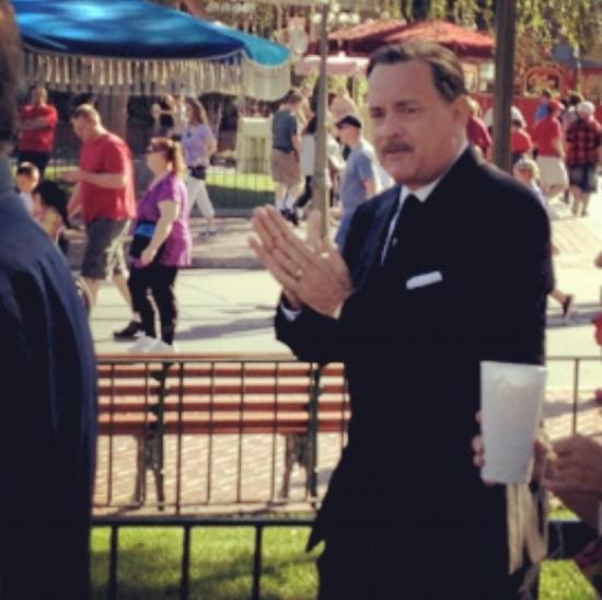 Tom Hanks on set of Saving Mr. Banks