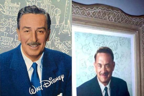 Walt Disney and Tom Hanks