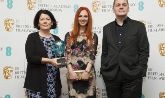 Jury-Chair-Pippa-Harris-Nominee-Juno-Temple-and-EE-Director-of-Brand-Spencer-McHugh-are-pictured-at-BAFTA-HQ-as-nominees-for-the-2013-EE-Rising-Star-Award-are-announced
